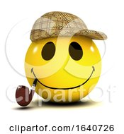 Funny Cartoon 3d Smiley Face Sherlock Holmes Detective by Steve Young