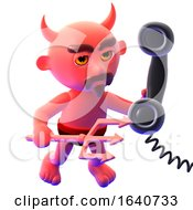 3d Devil Answers The Phone by Steve Young