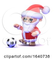 3d Santa Kicks The Football by Steve Young