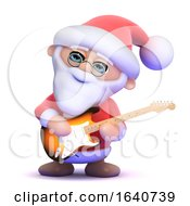 3d Santa Plays Electric Guitar by Steve Young