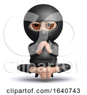 3d Ninja Meditates by Steve Young