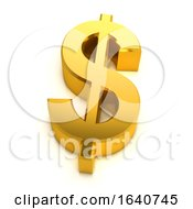 3d Gold US Dollar Symbol