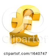 3d Gold UK Pound Symbol
