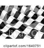3d Monochrome Striped Waves