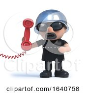 3d Old Biker Answers The Phone by Steve Young
