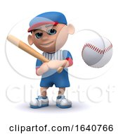 3d Baseball Kid Has Hit The Ball