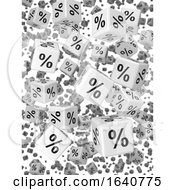 3d White Percentage Dice