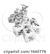 3d White Percentage Symbol Dice