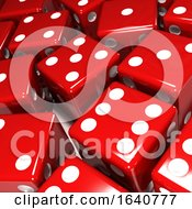 3d Red Dice Close Up