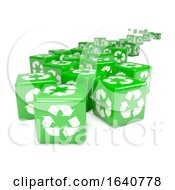 3d Green Recycle Dice To The Horizon
