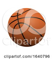 3d Basketball On White Background