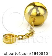 3d Gold Ball And Chain