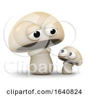 3d Mushroom Family