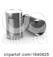 3d Two Tin Cans
