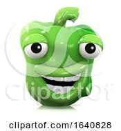 3d Laughing Green Pepper
