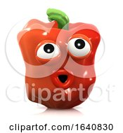 3d Surprised Red Pepper