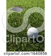 3d Golf Ball By Hole