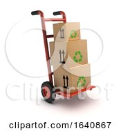3d Boxes On Handcart