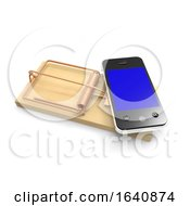 3d Smartphone On A Mouse Trap