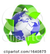 3d Recycle Earth Symbol