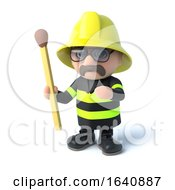 3d Fireman Holds A Match by Steve Young