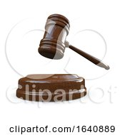 Poster, Art Print Of 3d Judge Or Auction Gavel Hammer