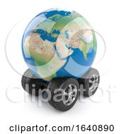 3d Globe Of The Earth With Wheels