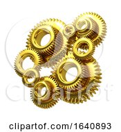 3d Golden Cogs