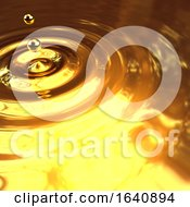 3d Gold Droplet And Ripples