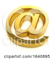3d Golden Email Symbol by Steve Young