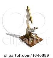 3d Antique Brass Microscope
