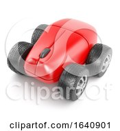 Poster, Art Print Of 3d Computer Mouse With Wheels