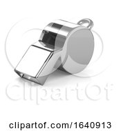 3d Chrome Referee Whistle