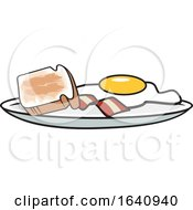 Breakfast Plate With Toast Bacon And An Egg