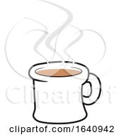 Hot Cup Of Coffee With Steam