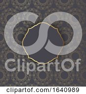 Decorative Pattern Background In Gold And Black