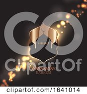 Ramadan Kareem Background With Mosque Silhouette On Bokeh Lights Design by KJ Pargeter