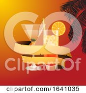 Summer Background With Cocktails And Banner