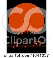 Poster, Art Print Of Music Festival Border With Crowd And Notes Copy Space Background