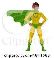 Super Hero Asian Man Cartoon