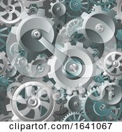 Poster, Art Print Of Gears And Cogs Seamless Machine Background