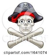 Poster, Art Print Of Pirate Skull And Crossbones Cartoon