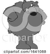 Cartoon Angry Black Bear With Hands On Hips by djart