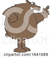 Cartoon Angry Brown Bear Wagging A Finger by djart