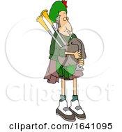 Cartoon Bagpiper In Uniform