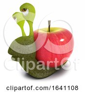 3d Funny Cartoon Snail Character Carrying A Heart Instead Of A Shell