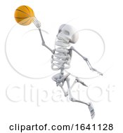 3d Skeleton Jumps To Score At Basketball