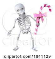 3d Skeleton Has Some Pink Candy