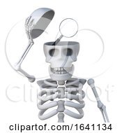 3d Skeleton Reveals A Magnifying Glass