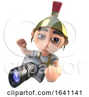 3d Funny Cartoon Roman Soldier Centurion Holding A Camera by Steve Young